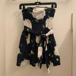 Abercrombie & Fitch Strapless Floral Mini Dress